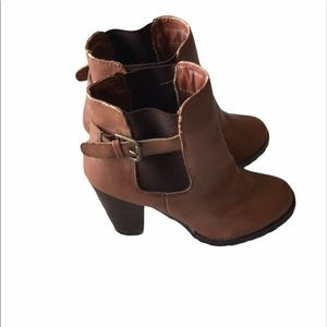 🔥Host Pick🔥Expression Brown Leather Booties